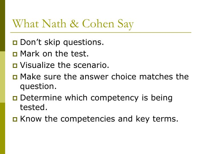 What Nath & Cohen Say