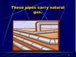 these pipes carry natural gas