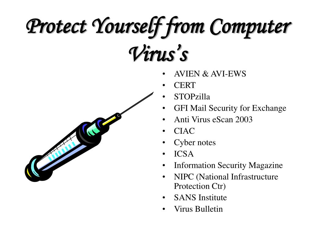 Protect Yourself from Computer Virus's