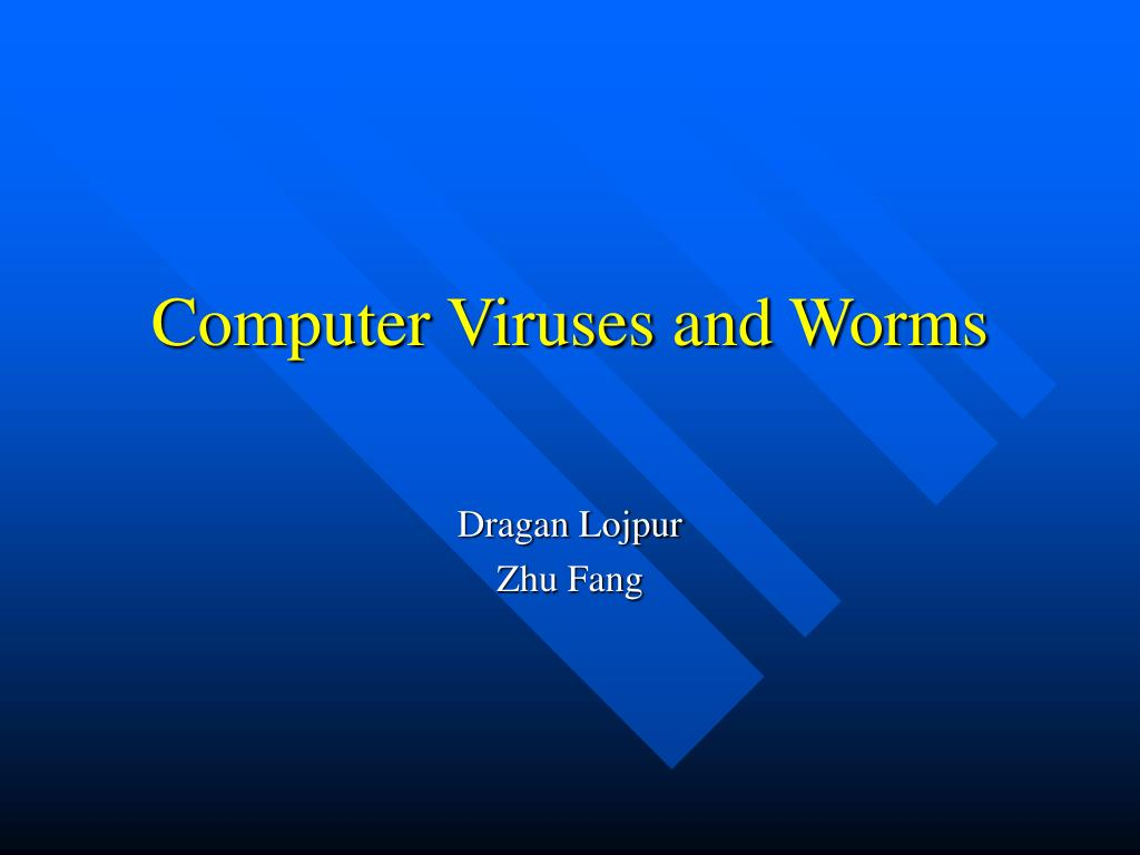 computer viruses and worms l.