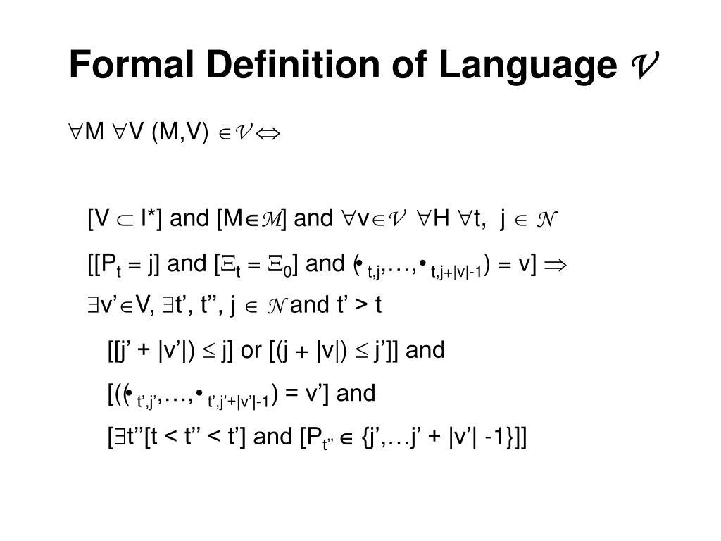 Formal Definition of Language