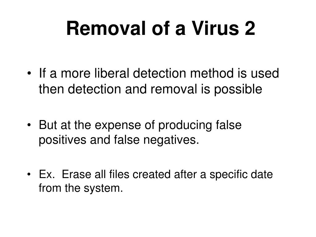 Removal of a Virus 2