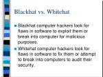 blackhat vs whitehat