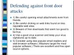 defending against front door attacks