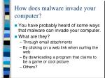 how does malware invade your computer