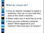 what do viruses do