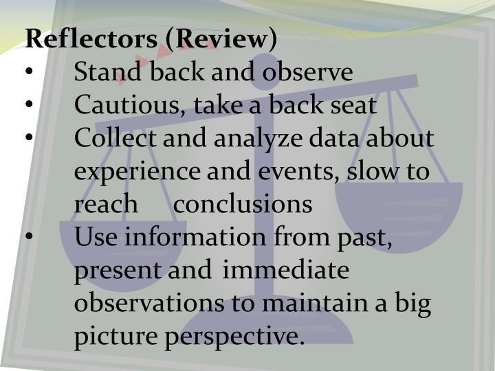 Reflectors (Review)