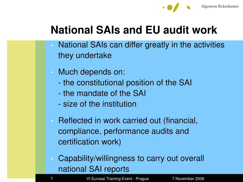 PPT - Auditing EU funds – National SAI experiences
