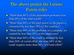 the above permit the famous pareto rules