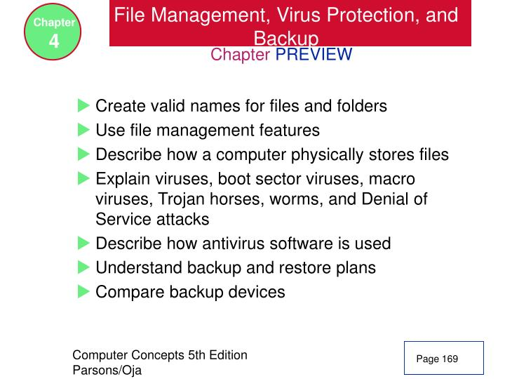 File management virus protection and backup2