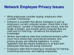 network employee privacy issues