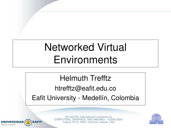 networked virtual environments n.