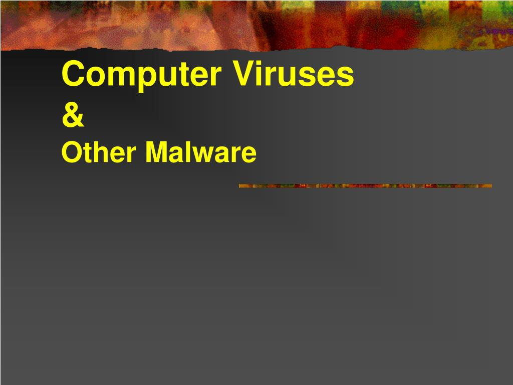 computer viruses other malware l.