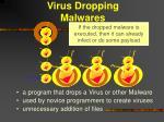virus dropping malwares