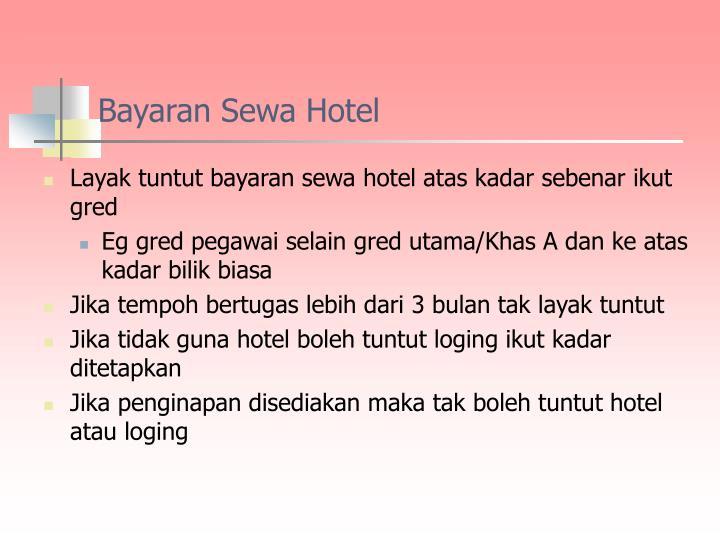 Bayaran Sewa Hotel