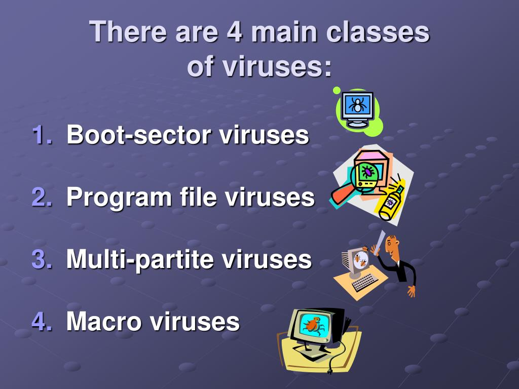 There are 4 main classes