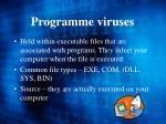 programme viruses