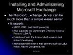 installing and administering microsoft exchange