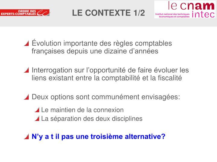 Le contexte 1 2