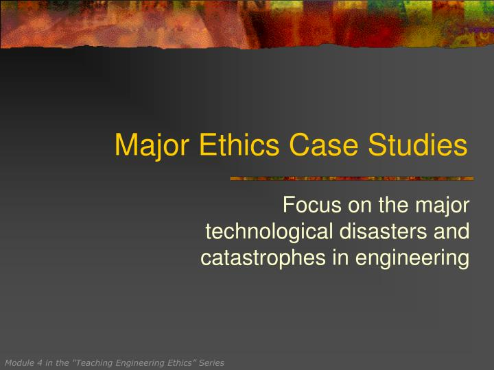 ethics in finance case study