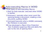 auto executing macros in word
