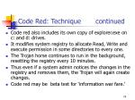 code red technique continued74