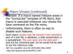 macro viruses continued