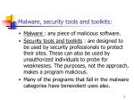 malware security tools and toolkits