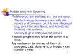 mobile program systems