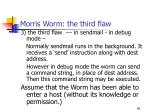 morris worm the third flaw
