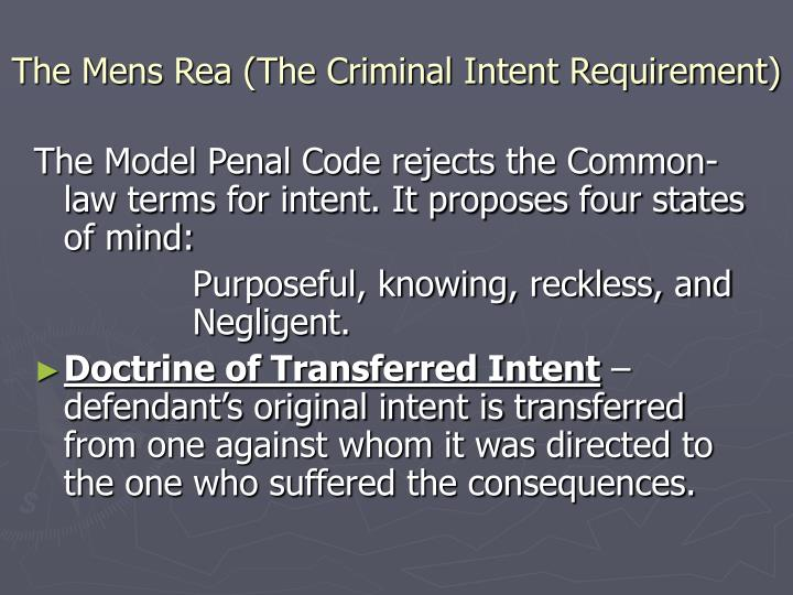 intention mens rea essays This is exactly the intention of law when it stipulates that mens rea or guilty intention is the sine qua non of a criminal act and is an essential element of a crime.