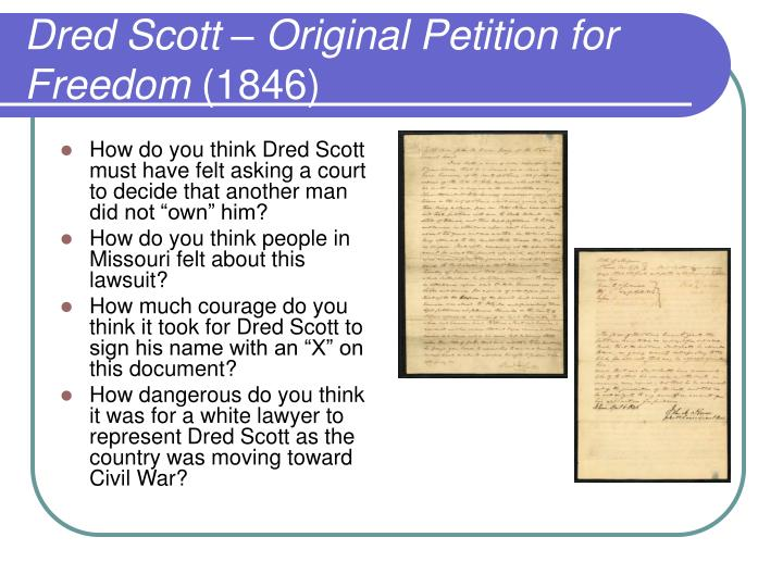 Dred Scott – Original Petition for Freedom