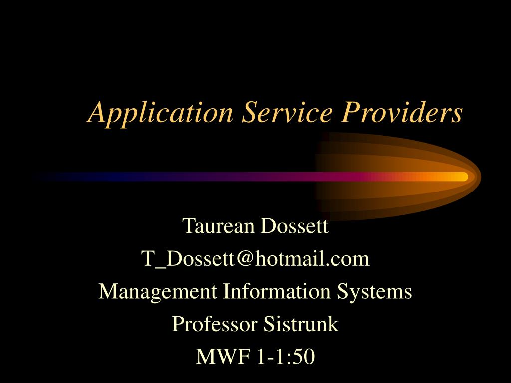 application service providers l.