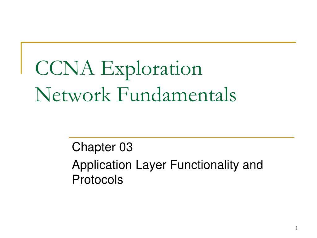 ccna exploration network fundamentals l.
