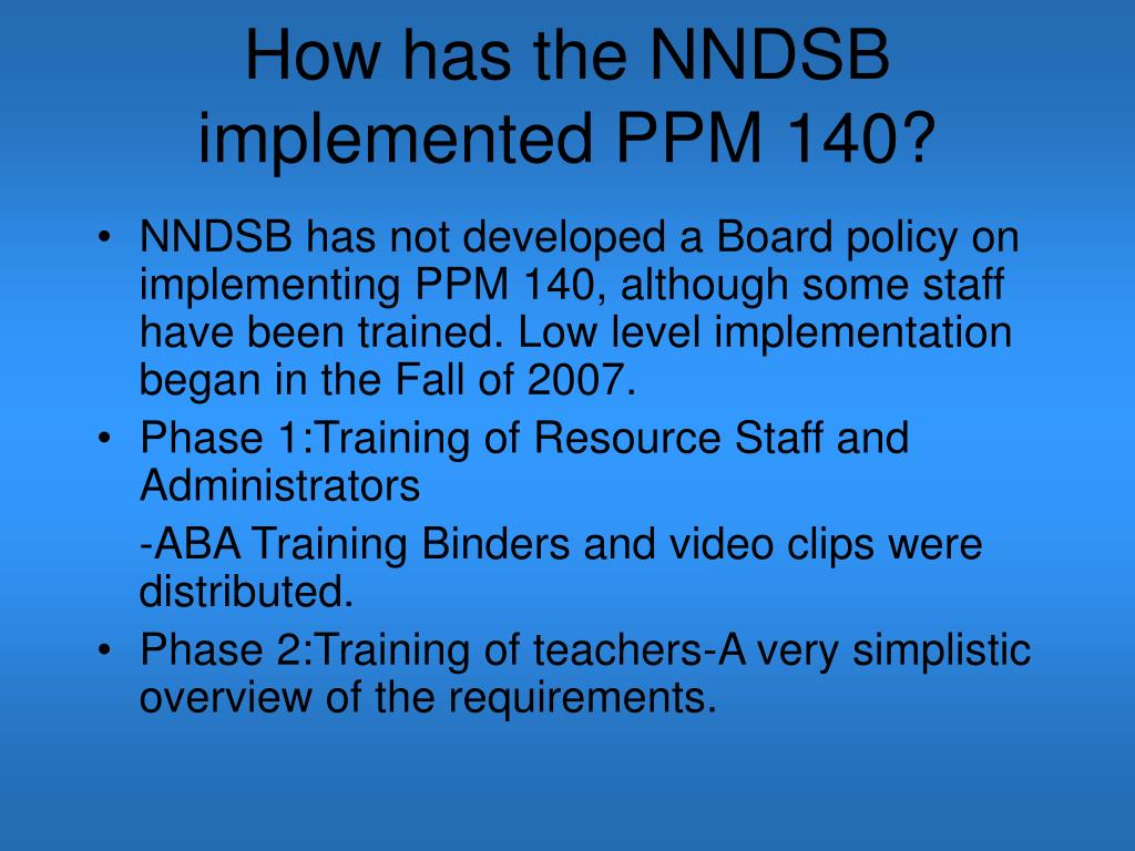 PPT - PPM 140: Incorporating Methods of Applied Behaviour