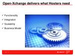 open xchange delivers what hosters need