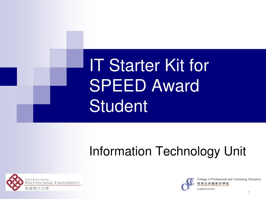 it starter kit for speed award student l.