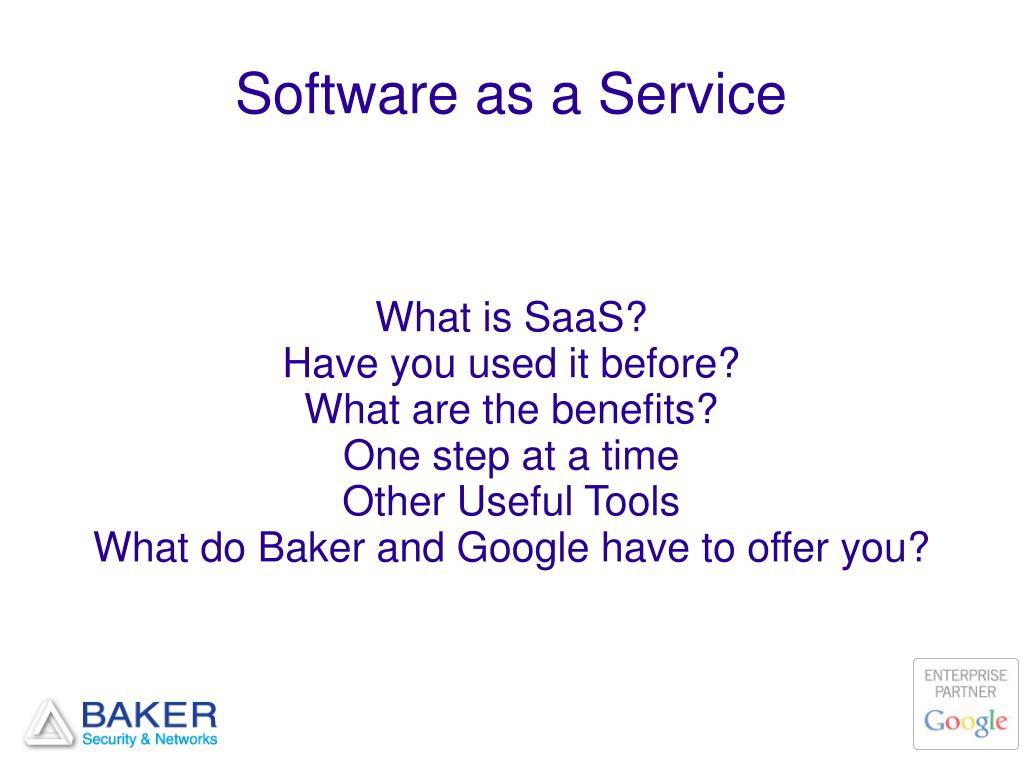 software as a service l.