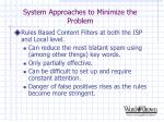 system approaches to minimize the problem