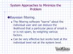 system approaches to minimize the problem14