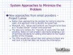 system approaches to minimize the problem18