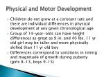 physical and motor development1