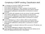 complexity of smtp sending classification draft