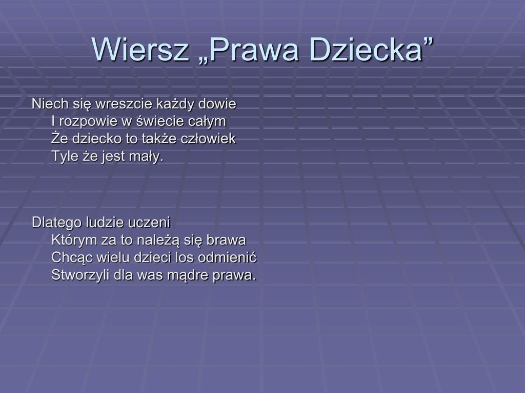 Ppt Prawa Dziecka Powerpoint Presentation Free Download