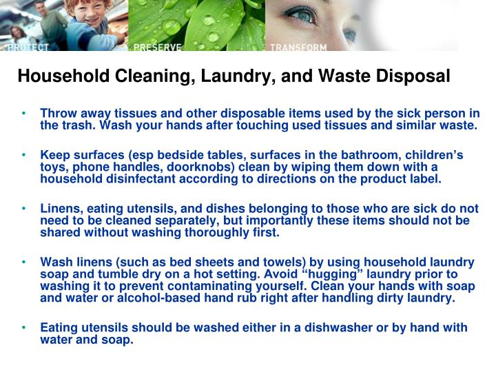 Household Cleaning, Laundry, and Waste Disposal