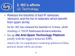 2 isc s efforts 2 technology