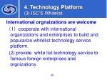 4 technology platform 3 isc s whitelist28