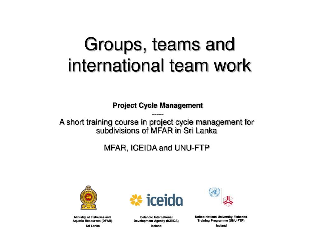 work team vs work group 29032016 so, you are a team leader at least that's what your title says but, are you really leading a team or is it just a work group there's a big.
