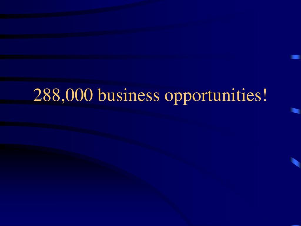 288,000 business opportunities!