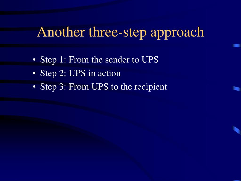 Another three-step approach